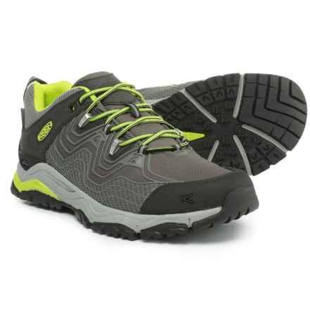 Keen APhlex Hiking Shoes - Waterproof (For Men) in Gargoyle/Macaw - Closeouts