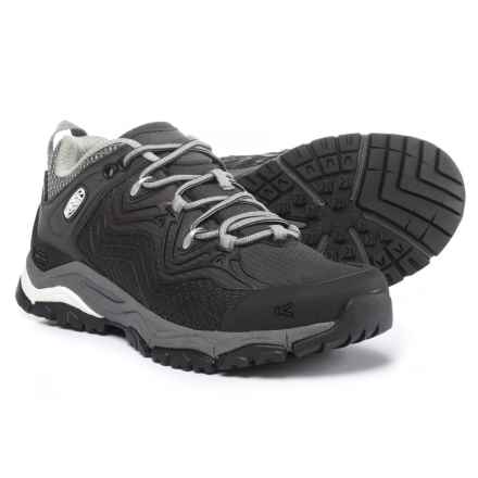 Keen APhlex Low Hiking Shoes - Waterproof (For Women) in Black/Gargoyle - Closeouts