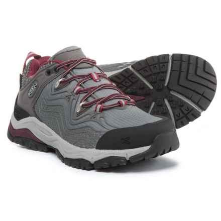 Keen APhlex Low Hiking Shoes - Waterproof (For Women) in Raven/Gargoyle - Closeouts