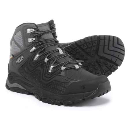 Keen APhlex Mid Hiking Boots - Waterproof (For Men) in Black/Black - Closeouts