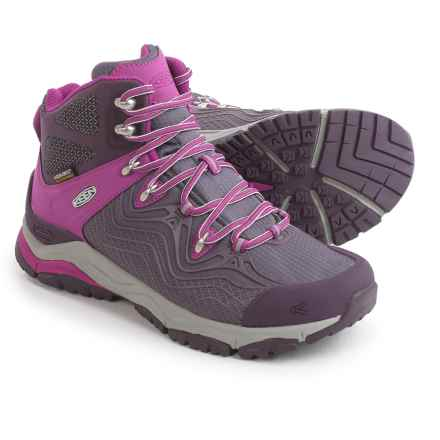 Keen Aphlex Mid Hiking Boots - Waterproof (For Women) in Plum/Shark - Closeouts