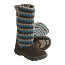 Keen Auburn Boots - Suede, Sweater-Knit Shaft (For Kids and Youth) in Daphne - Closeouts