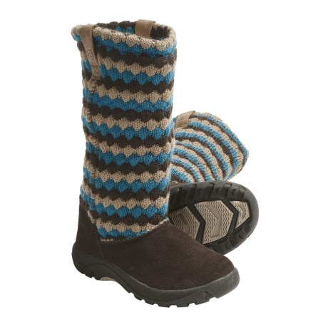 Keen Auburn Boots - Suede, Sweater-Knit Shaft (For Kids and Youth) in Daphne