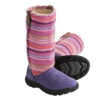Keen Auburn Boots - Suede, Sweater-Knit Shaft (For Kids and Youth) in Loganberry - Closeouts