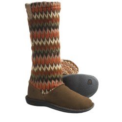 Keen Auburn Boots - Suede, Sweater-Knit Shaft (For Women) in Slate Black