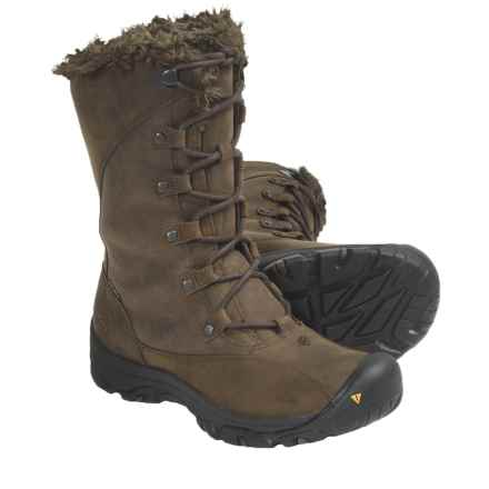 Keen Bailey High Winter Boots - Waterproof, Insulated (For Women) in Slate Black/Dark Earth - Closeouts