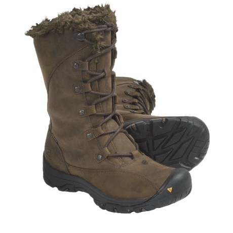 Keen Bailey High Winter Boots - Waterproof, Insulated (For Women) in Slate Black/Dark Earth