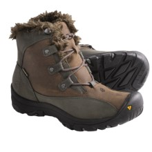 Keen Bailey Low Snow Boots - Waterproof, Insulated (For Women) in Dark Earth/Gargoyle - Closeouts