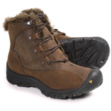 Keen Bailey Low Winter Boots - Waterproof, Insulated (For Women) in Slate Black/Dark Earth - Closeouts