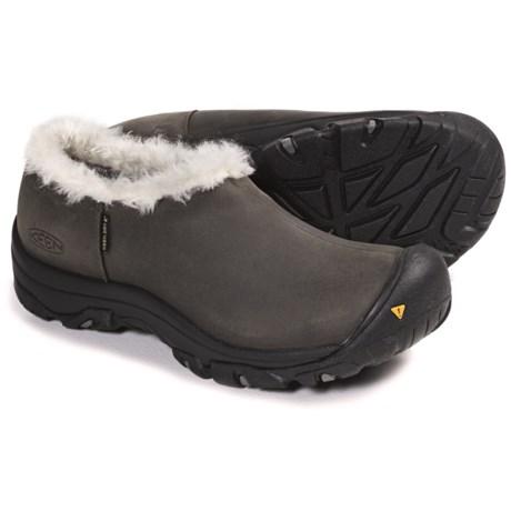 Keen Bailey Slip-On Winter Shoes - Waterproof (For Women) in Black/Black