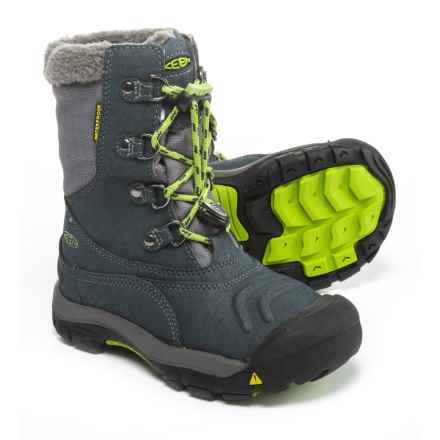 Keen Basin Snow Boots - Waterproof, Insulated (For Boys) in Midnight Navy/Macaw - Closeouts