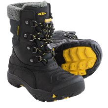 Keen Basin Snow Boots - Waterproof, Insulated (For Little and Big Kids) in Black/Yellow - Closeouts