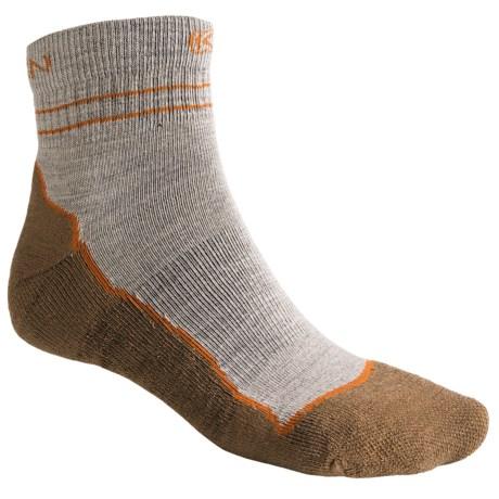 Keen Bellingham Lite Socks - Merino Wool, Lightweight, Quarter-Crew (For Men) in Tan/Rust