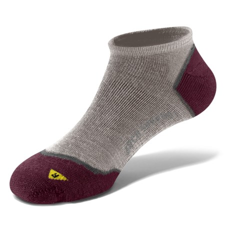 Keen Bellingham Low Ultralite Socks - Merino Wool (For Women) in Tan/Port Royale