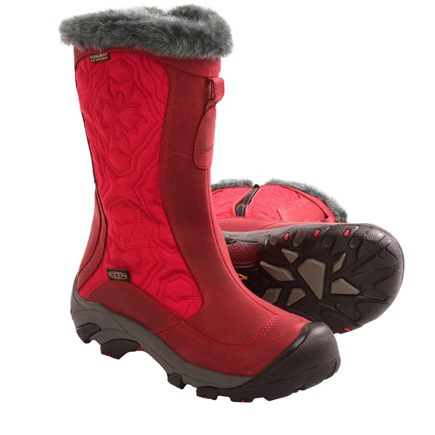 keen betty ii snow boots waterproof insulated for women in tango red gargoyle. Black Bedroom Furniture Sets. Home Design Ideas