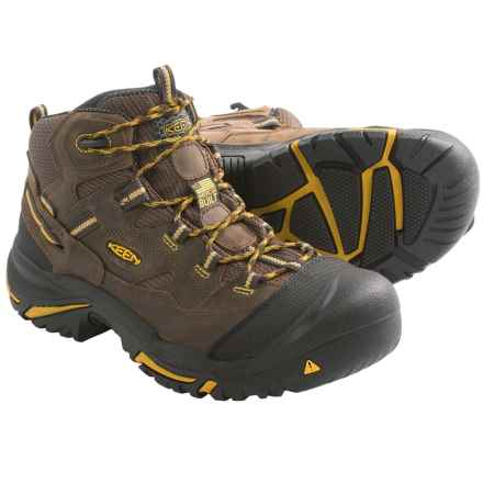 Keen Braddock Work Boots - Waterproof (For Men) in Cascade Brown/Tawny - 2nds