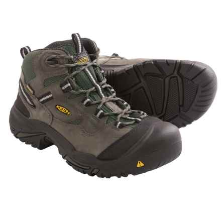 Keen Braddock Work Boots - Waterproof (For Men) in Gargoyle/Forest Night - 2nds