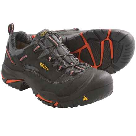 Keen Braddock Work Shoes - Steel Toe (For Men) in Black/Bossa Nova - 2nds