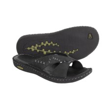 Keen Bree Nubuck Leather Sandals - Cross Slides (For Women) in Black - Closeouts