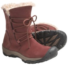 Keen Brighton Low Boots - Waterproof, Faux-Fur Lined (For Women) in Madder Brown - Closeouts
