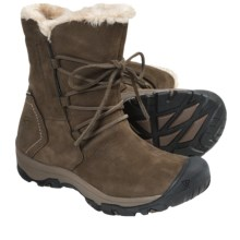 Keen Brighton Low Boots - Waterproof, Faux-Fur Lined (For Women) in Slate Black - Closeouts