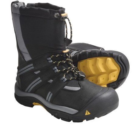 Keen Brixen Winter Boots - Waterproof, Insulated (For Men) in Black/Keen Yellow