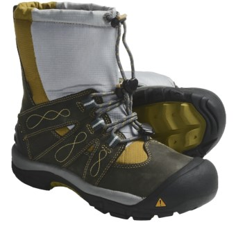 Keen Brixen Winter Boots - Waterproof, Insulated (For Women) in Dark Shadow/Golden Olive