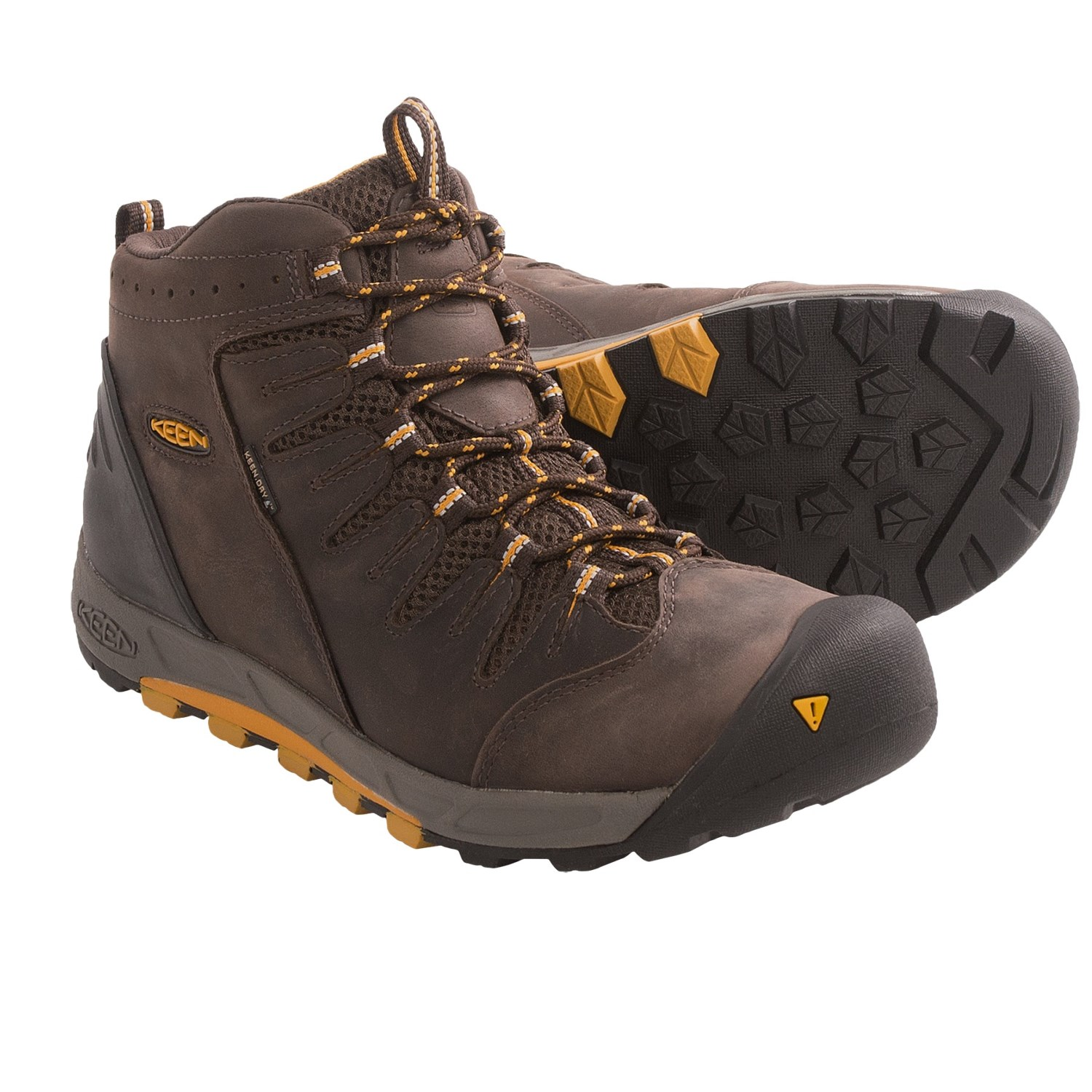 keen bryce mid hiking boots waterproof leather for