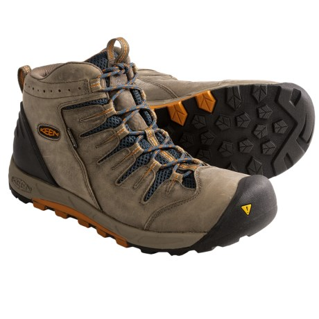 Keen Bryce Mid Hiking Boots - Waterproof, Leather (For Men) in Shitake/Burnt Orange