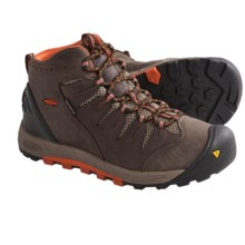 Keen Bryce Mid Hiking Boots - Waterproof, Nubuck (For Women) in Chocolate Brown/Mandarin - Closeouts