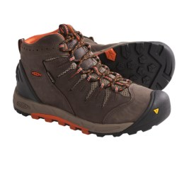 Keen Bryce Mid Hiking Boots - Waterproof, Nubuck (For Women) in Dark Shadow/Hollyhock