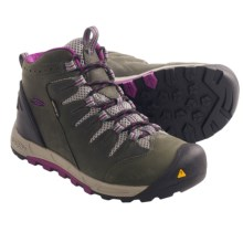 Keen Bryce Mid Hiking Boots - Waterproof, Nubuck (For Women) in Dark Shadow/Hollyhock - Closeouts