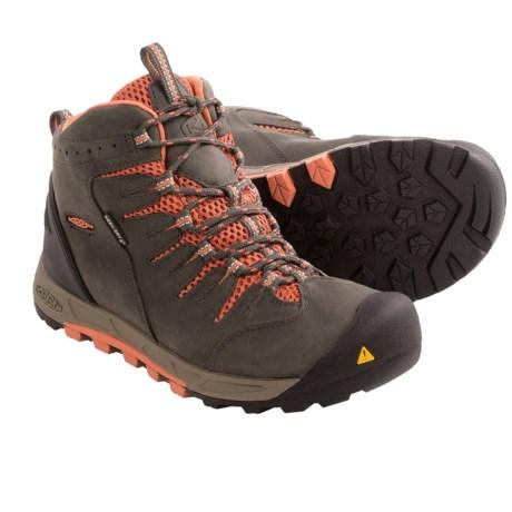 Keen Bryce Mid Hiking Boots - Waterproof, Nubuck (For Women) in Raven/Arabesque