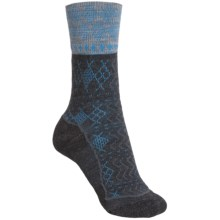 Keen Burlington Crew Lite Socks - Merino Wool (For Women) in Charcoal/Black - Closeouts