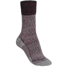 Keen Burlington Crew Lite Socks - Merino Wool (For Women) in Grey/Charcoal - Closeouts