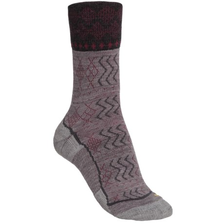 Keen Burlington Crew Lite Socks - Merino Wool (For Women) in Grey/Charcoal