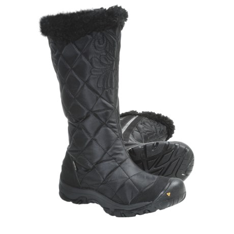 Keen Burlington High Winter Boots - Waterproof (For Women) in Black