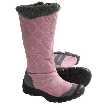 Keen Burlington High Winter Boots - Waterproof (For Women) in Woodrose/Gargoyle