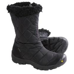 Keen Burlington Low Winter Boots - Waterproof (For Women) in Black/Black