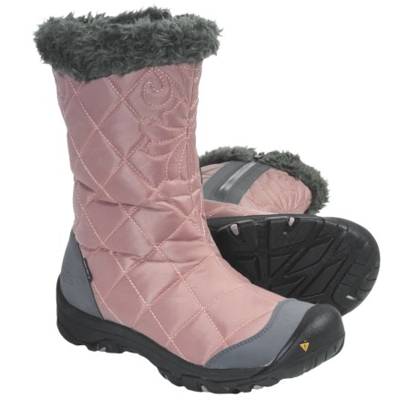 Keen Burlington Low Winter Boots - Waterproof (For Women) in Woodrose/Gargoyle