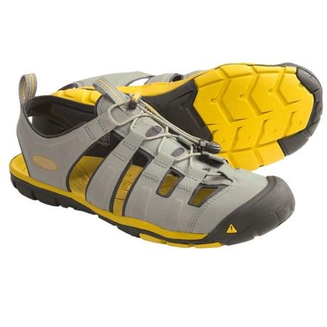 Keen Cascade CNX Sport Sandals (For Men) in Neutral Grey/Super Lemon