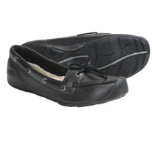 Keen Catalina Boat Shoes - Leather (For Women) in Black - Closeouts