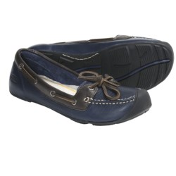 Keen Catalina Boat Shoes - Leather (For Women) in Black