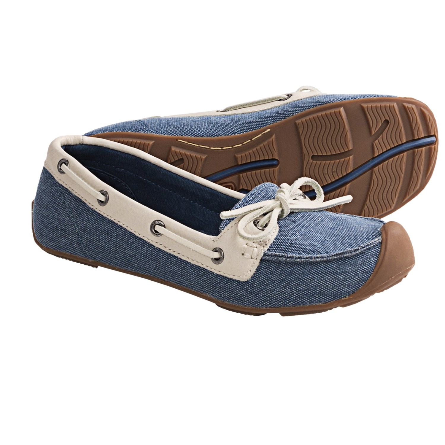 Keen Catalina Canvas Boat Shoes (For Women) in Ensign Blue/Whisper