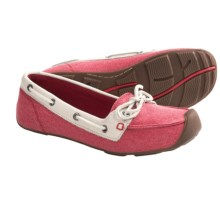 Keen Catalina Canvas Boat Shoes (For Women) in True Red/Whisper White - Closeouts