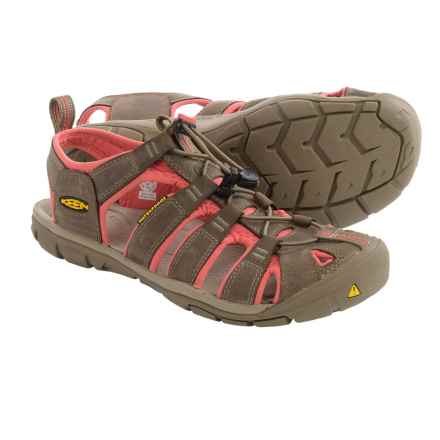Keen Clearwater CNX Leather Sport Sandals (For Women) in Shitake/Rose - Closeouts