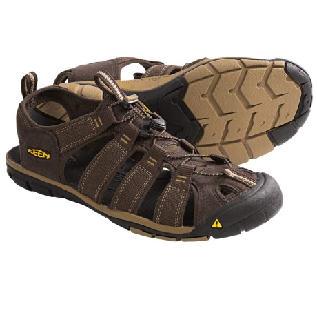 Keen Clearwater CNX Sandals - Suede (For Men) in Cascade Brown/Antique Bronze