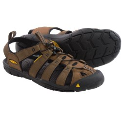 Keen Clearwater CNX Sandals - Suede (For Men) in Dark Earth/Black