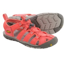 Keen Clearwater CNX Sport Sandals (For Women) in Hot Coral/Drizzle - Closeouts