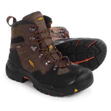 "Keen Coburg Steel Toe Work Boots - Waterproof, 6"" (For Men) in Cascade Brown/Brindle - 2nds"